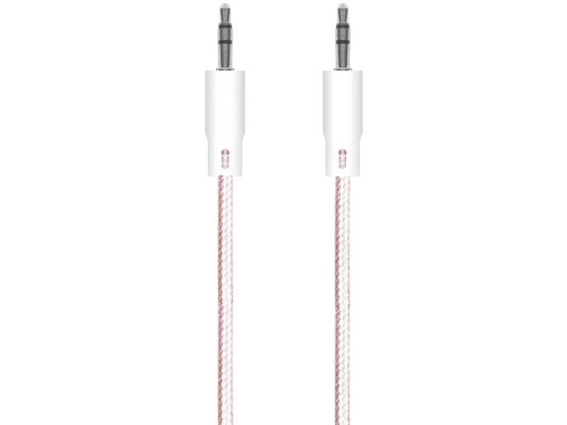 Аксессуар Krutoff AUX Nylon Jack 3.5mm 1.0m Pink 15098