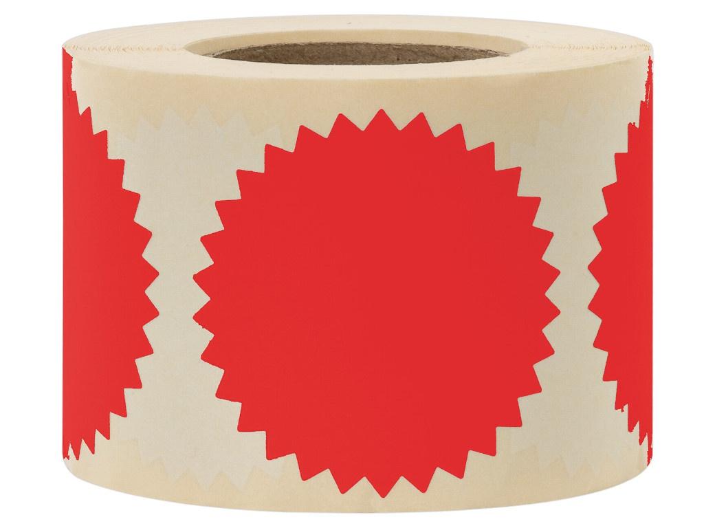 Этикетка самоклеящаяся для опечатывания документов Brauberg Звездочка 52mm 500шт Red 111742