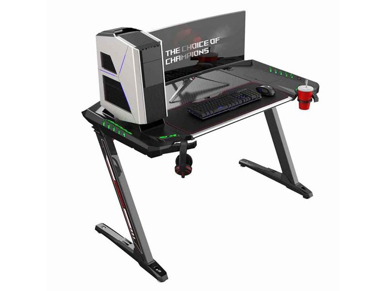 Стол Eureka Z2 Black c RGB подсветкой стол для компьютера eureka z1s