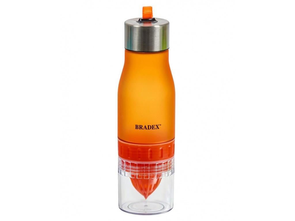Бутылка Bradex 600ml Orange SF 0519 с соковыжималкой