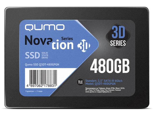 лучшая цена Жесткий диск Qumo Novation SSD 480Gb Q3DT-480GPGN