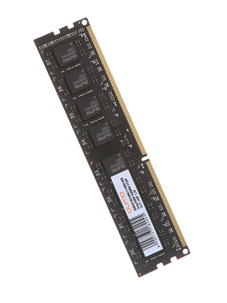 Модуль памяти Qumo DDR3 DIMM 1600MHz PC3-12800 8Gb QUM3U-8G1600C11R