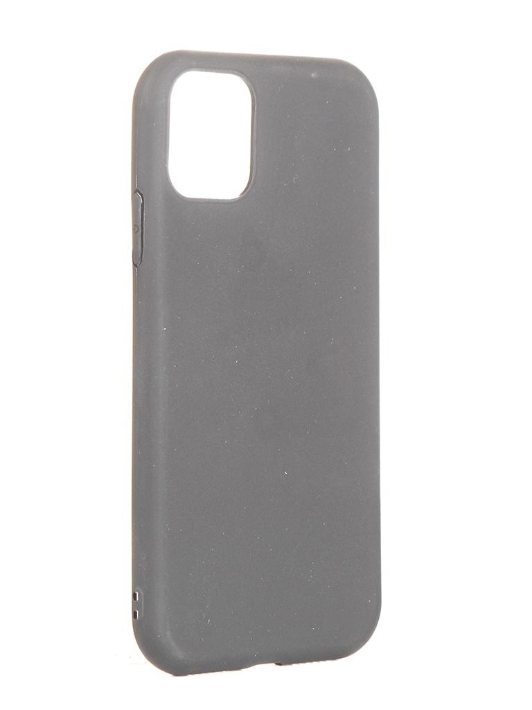 Чехол Brosco для APPLE iPhone 11 Matte Black IP11-COLOURFUL-BLACK