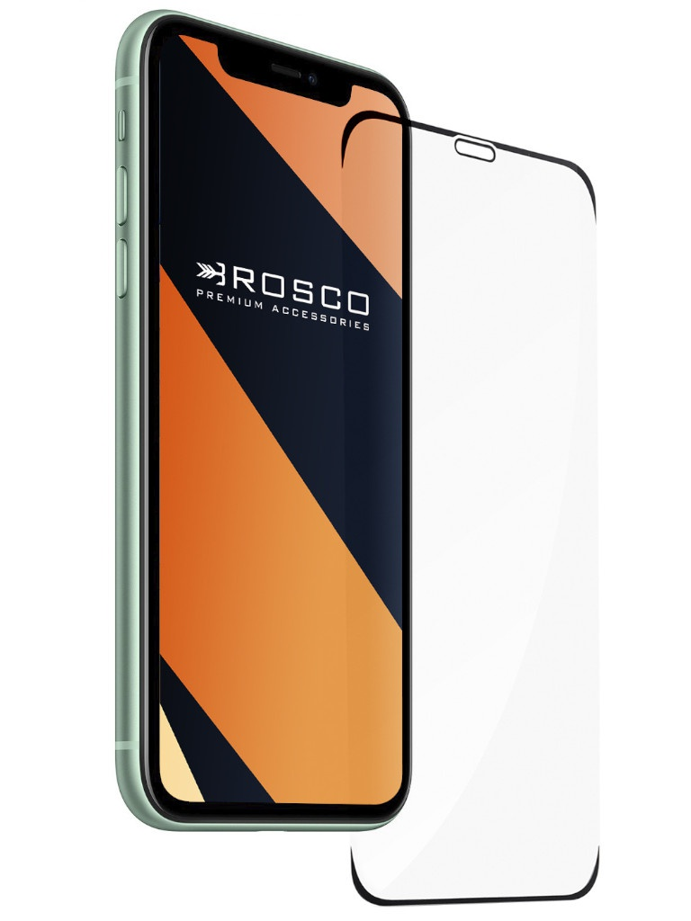 Защитное стекло Brosco для APPLE iPhone 11 Full Screen Frameless IP11-FRAMELESS-GLASS