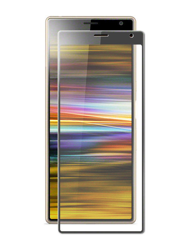 Защитное стекло Brosco для Sony Xperia 10 Plus Full Screen Glue Black 10P-FSP-GLASS-BLACK