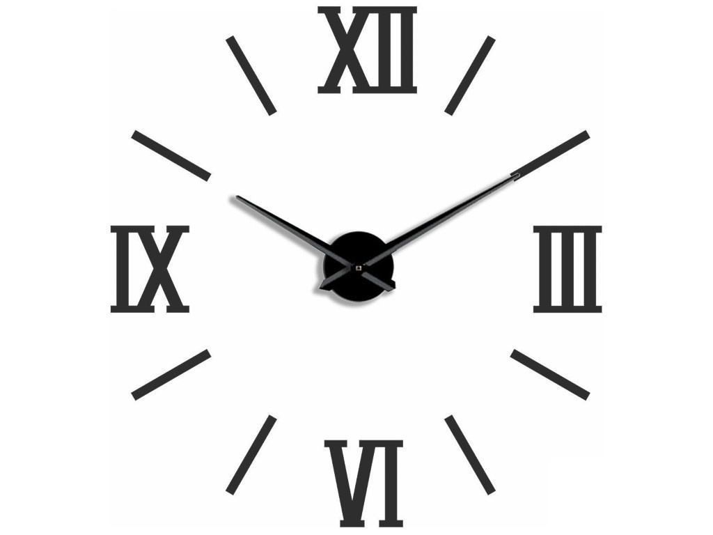 лучшая цена Часы Эврика 3D Римские Black 99679
