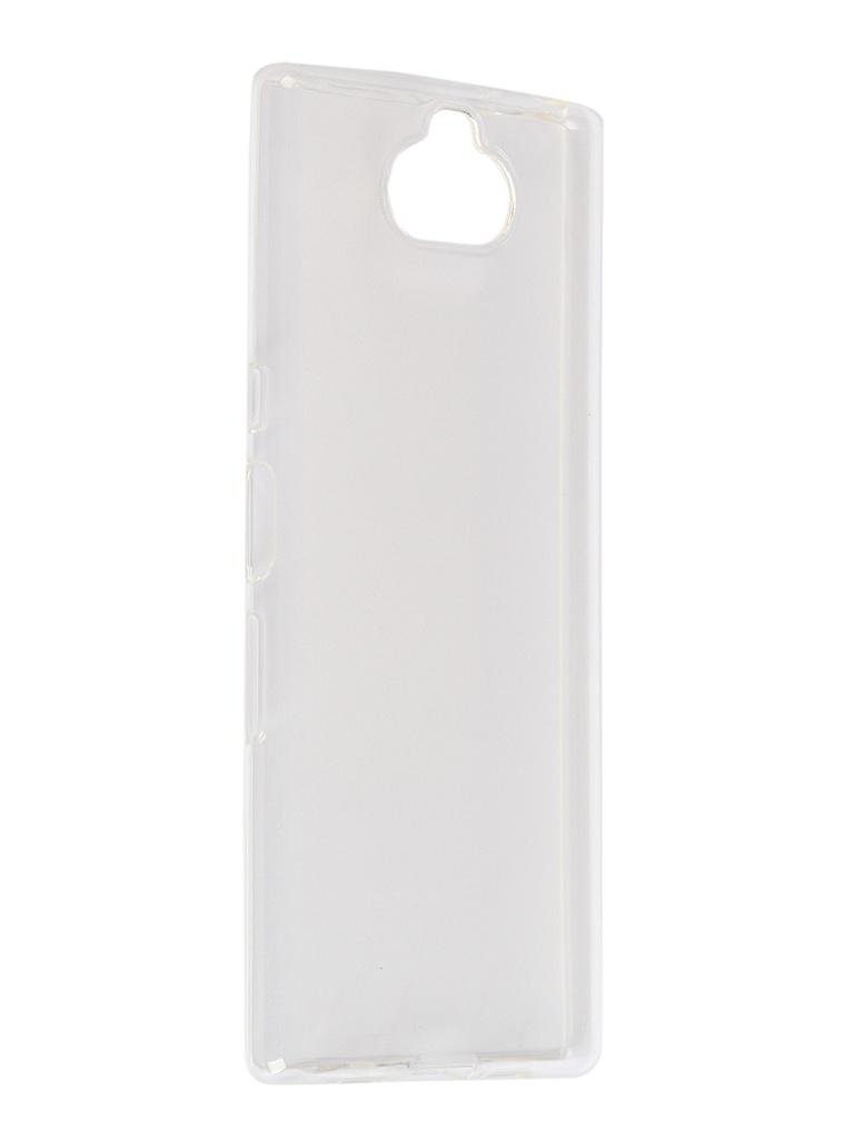Чехол Brosco для Sony Xperia 10 Silicone Transparent 10-TPU-TRANSPARENT аксессуар чехол sony xperia x activ silicone mat blue 57766