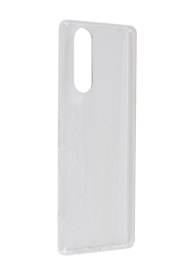 Чехол Brosco для Sony Xperia 5 Silicone Transparent 5-TPU-TRANSPARENT аксессуар чехол sony xperia x activ silicone mat blue 57766