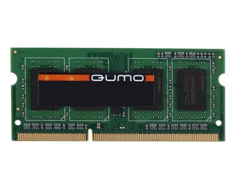 Фото - Модуль памяти Qumo 4GB DDR3 1600MHz SODIMM 204pin CL11 QUM3S-4G1600C11 модуль памяти qumo 4gb ddr3 1600mhz sodimm 204pin cl11 qum3s 4g1600c11