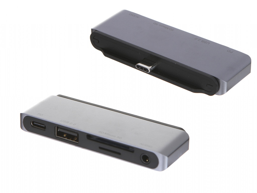 Адаптер Red Line Multiport adapter Type-C 5 in 1 Silver УТ000018774