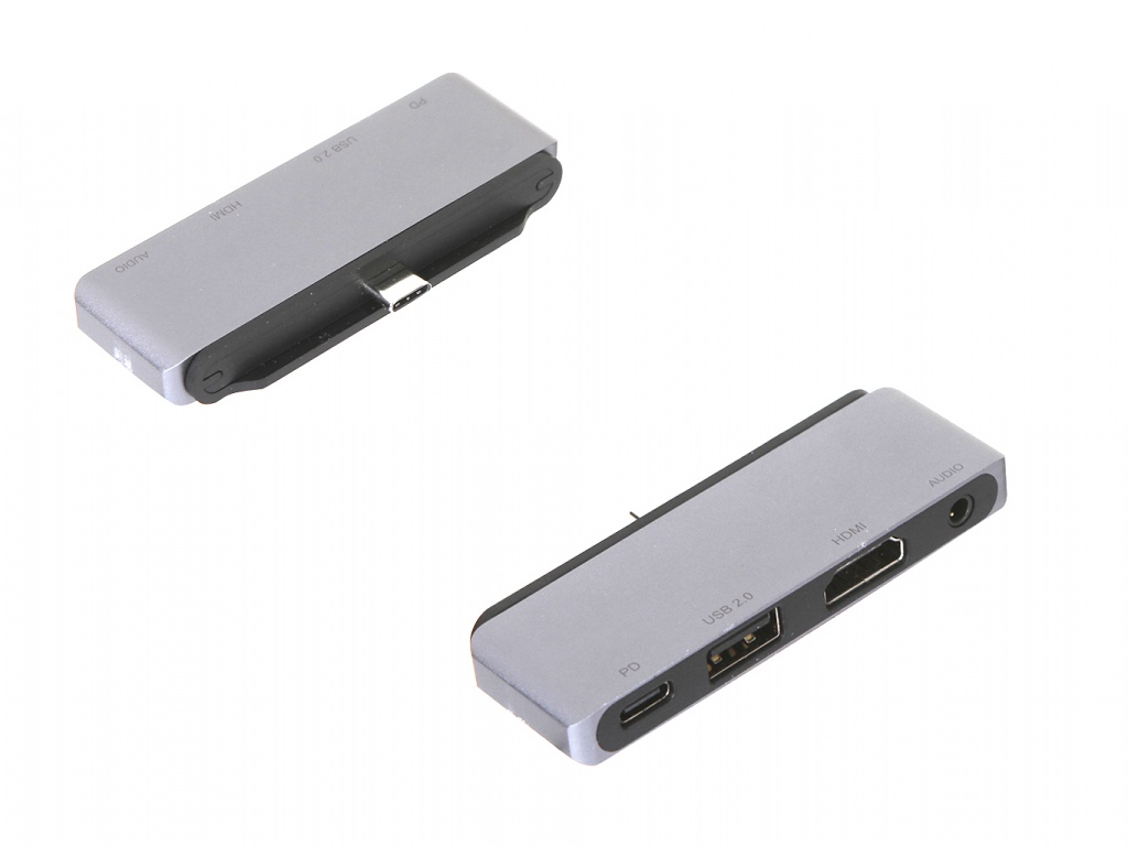 Адаптер Red Line Multiport adapter Type-C 4 in 1 Silver УТ000018775