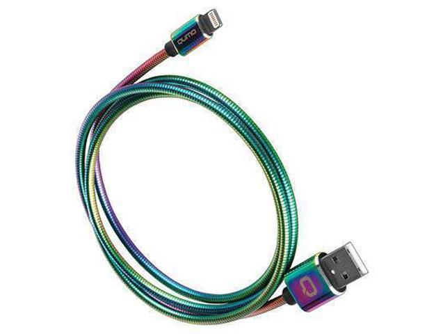 Аксессуар Qumo MFI С48 USB - Apple 8 pin Rainbaw 1.2m