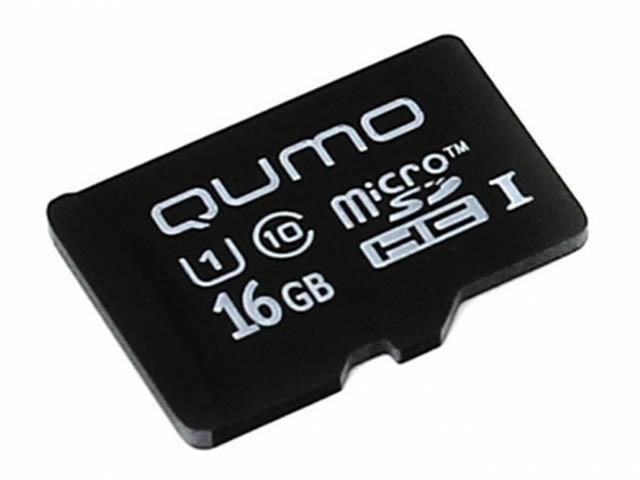 Карта памяти 16Gb - Qumo Micro SecureDigital CL10 UHS-I QM16GMICSDHC10U1