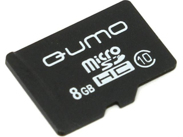 Карта памяти 8Gb - Qumo MicroSDHC SecureDigital Class 10 QM8GMICSDHC10NA qumo lite 2 8gb white