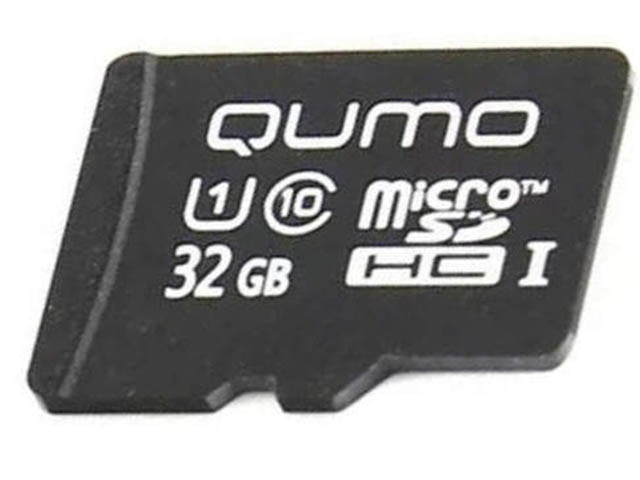 Карта памяти 32Gb - Qumo MicroSDHC Сlass 10 UHS-I 3.0 QM32GMICSDHC10U1NA