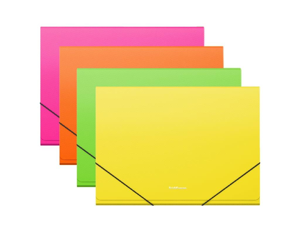 Папка ErichKrause Neon A4 на резинке 50421