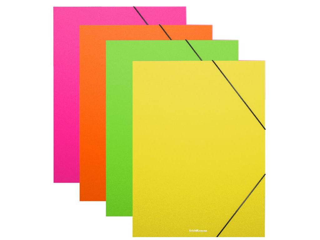 Папка ErichKrause Neon A4 на резинке 50388