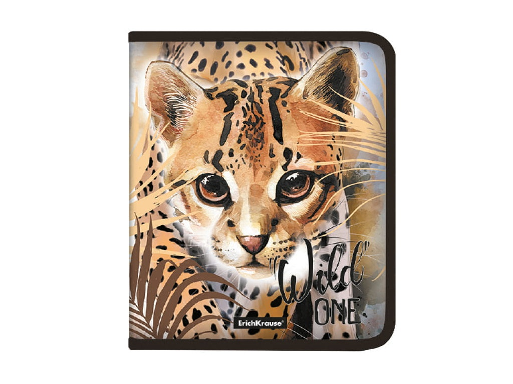 Папка ErichKrause Wild Cat A5+ на молнии 48699