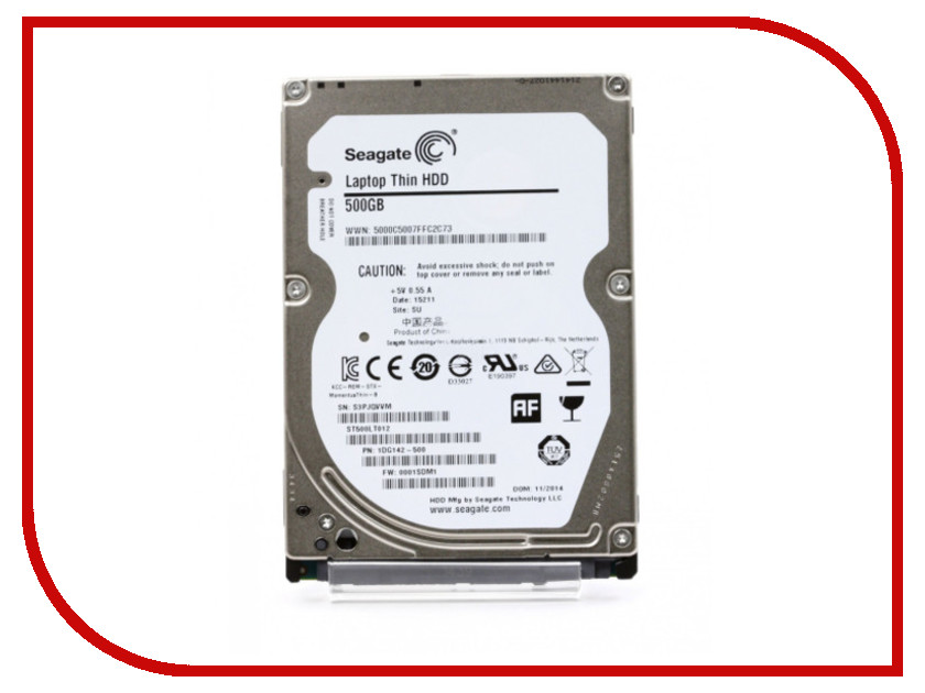 Жесткий диск 500Gb - Seagate ST500LT012 Laptop Thin<br>
