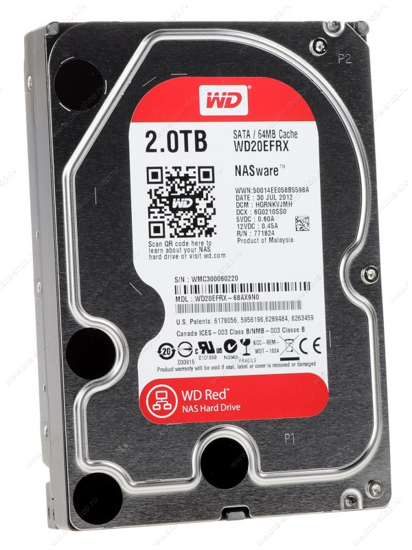 Жесткий диск 2Tb - Western Digital WD20EFRX Caviar Red жесткий диск 500gb western digital wd5003azex caviar black