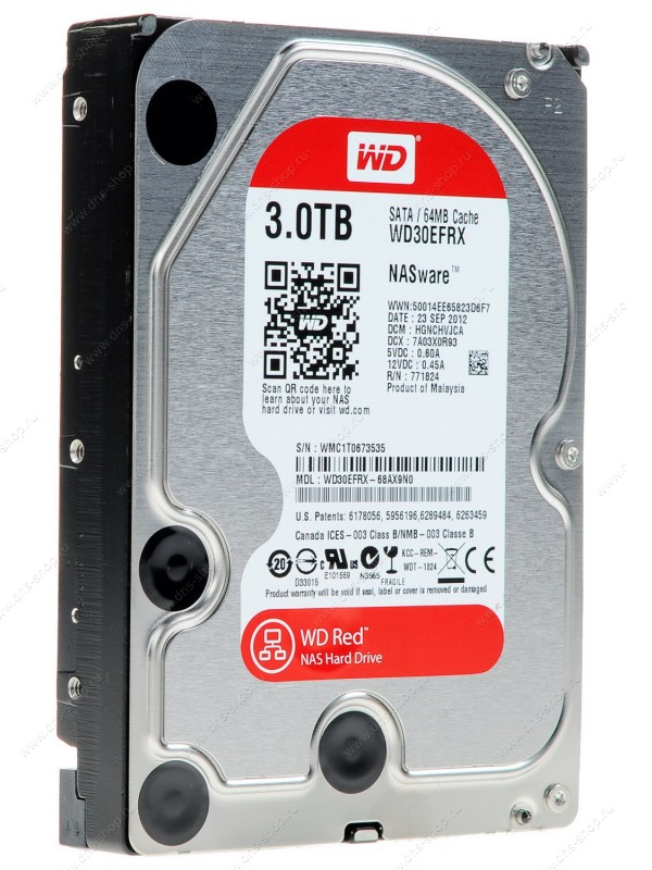 Жесткий диск 3Tb - Western Digital WD30EFRX Caviar Red жесткий диск 500gb western digital wd5003azex caviar black