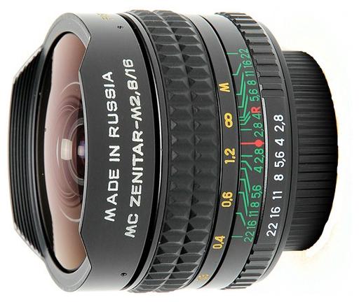 лучшая цена Объектив Зенит МС Зенитар-Н Nikon 16 mm F/2.8 Fisheye
