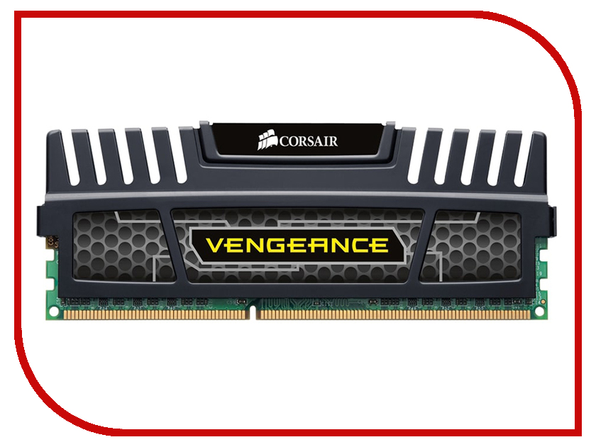 Модуль памяти Corsair Vengeance DDR3 DIMM 1600MHz PC3-12800 CL9 - 4Gb CMZ4GX3M1A1600C9 модуль памяти hp 16gb 2rx4 pc3 12800r 11 kit 672631 b21