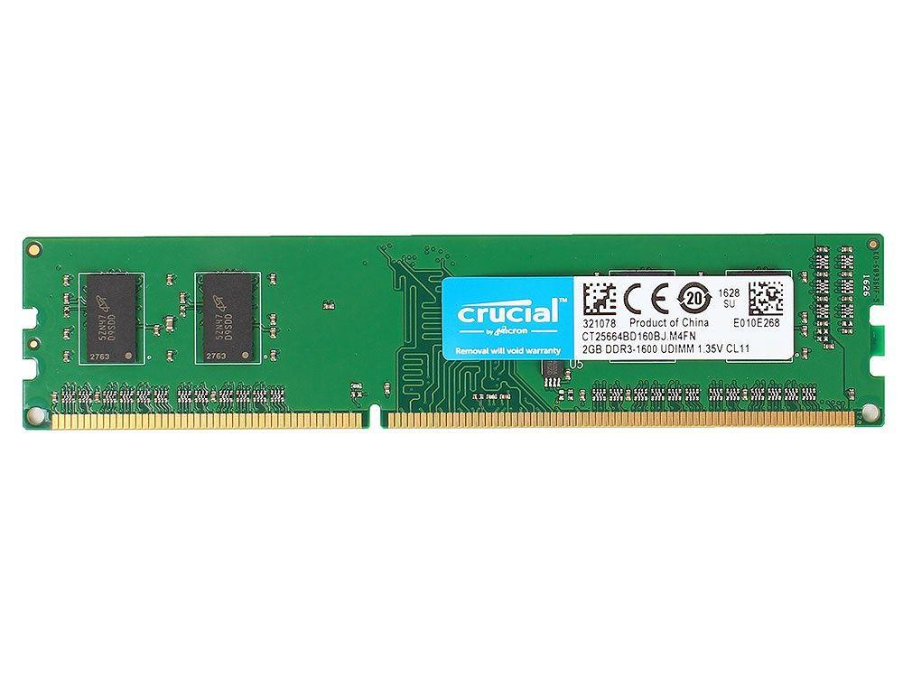 Модуль памяти Crucial CT25664BD160B модуль памяти crucial technology ble4c8g4d26afea