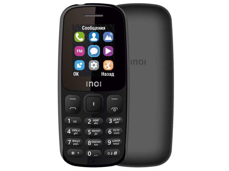 Сотовый телефон Inoi 100 Black сотовый телефон inoi 239 white