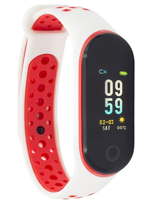 Умный браслет Qumann QSB 10 White-Red Q-10283 умный браслет qumann qsb 08 black
