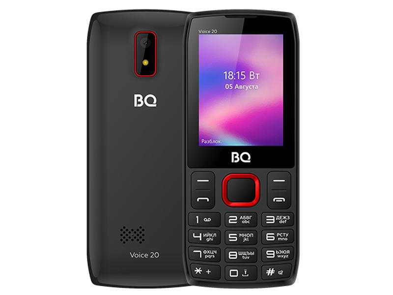 Сотовый телефон BQ 2400L Voice 20 Black-Red сотовый