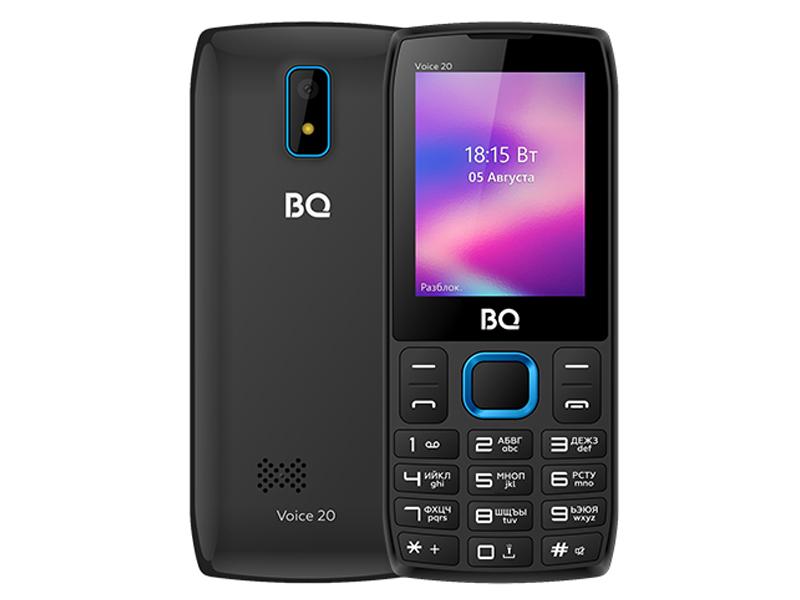 Сотовый телефон BQ 2400L Voice 20 Black-Blue