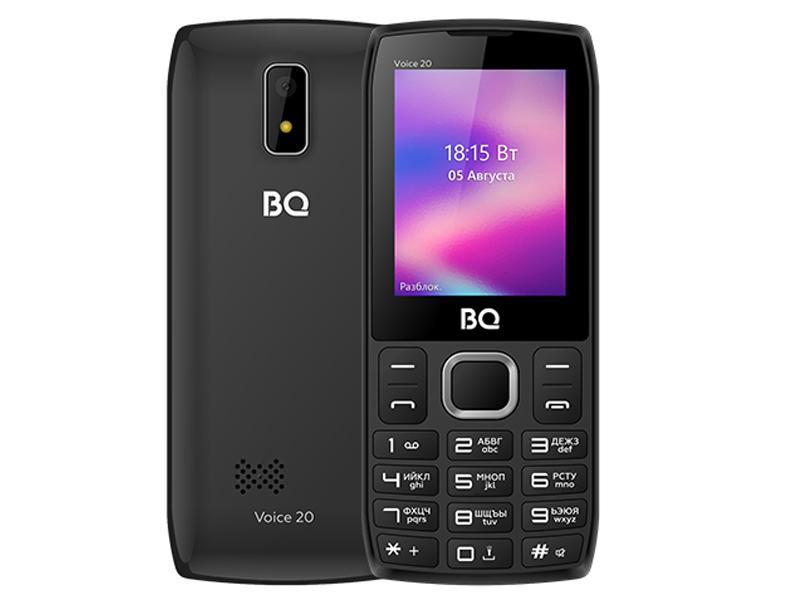 Сотовый телефон BQ 2400L Voice 20 Black-Grey сотовый