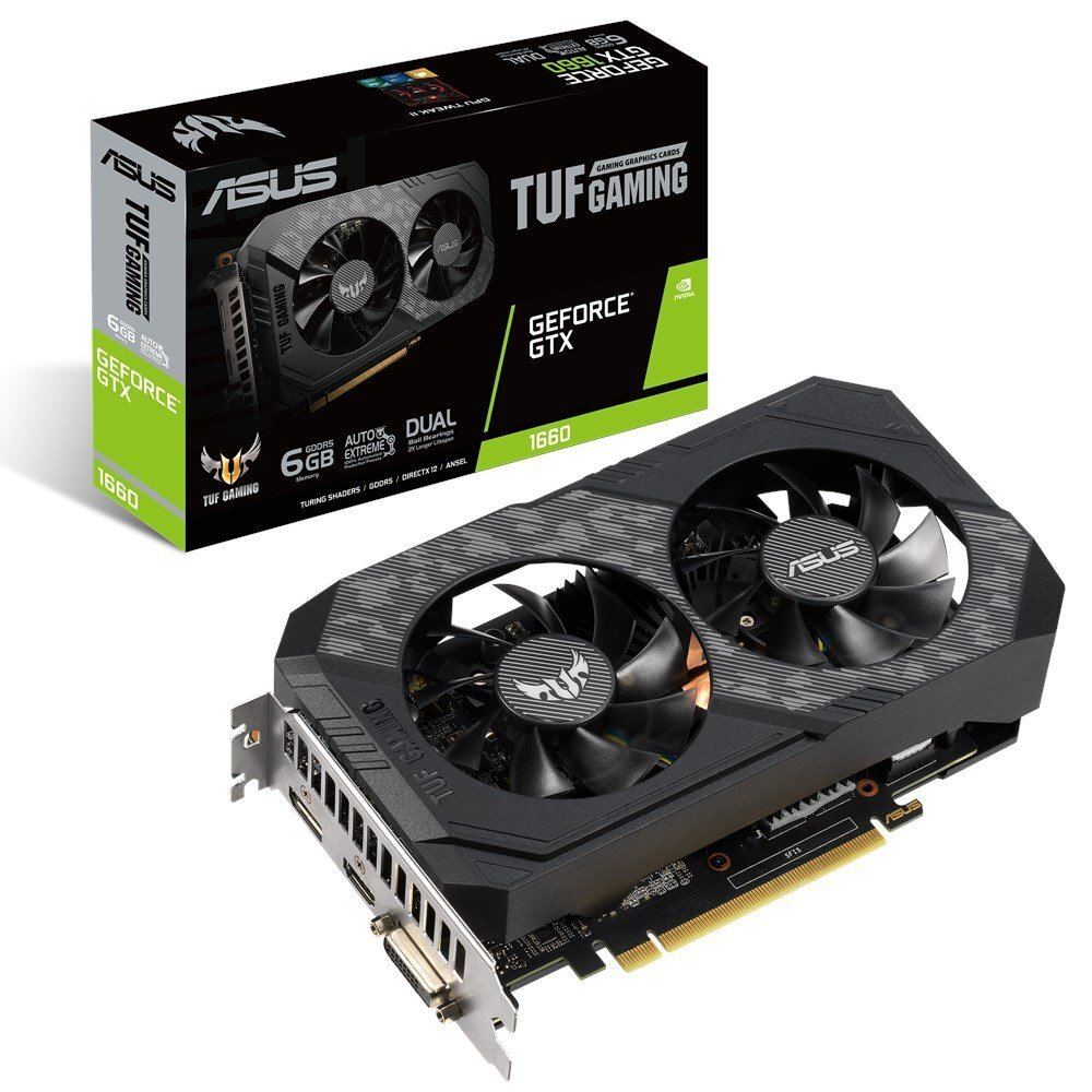 Видеокарта ASUS TUF GeForce GTX 1660 Super Gaming 1530Mhz PCI-E 3.0 6144Mb 14002Mhz 192 bit DP HDMI DVI TUF-GTX1660S-6G-GAMING