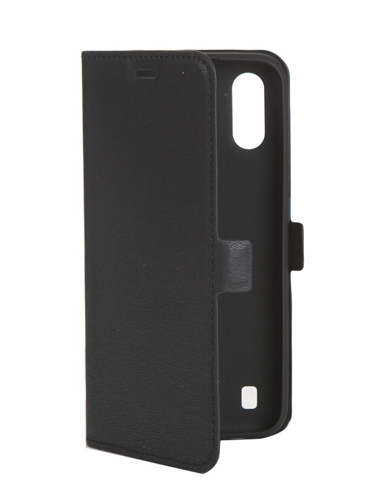 Чехол DF для Samsung Galaxy A01 sFlip-58 Black цена