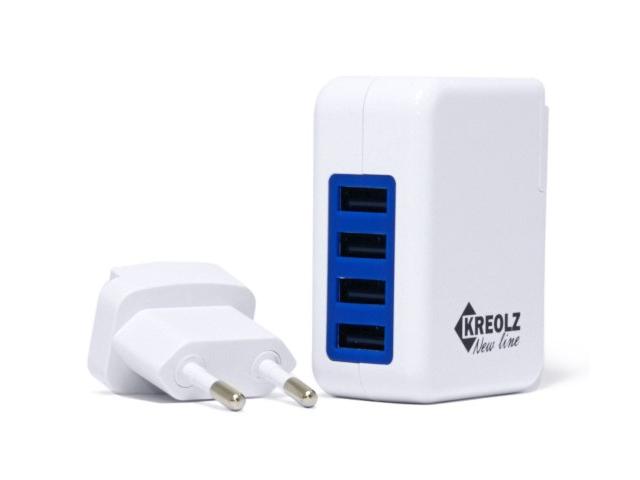 цена на Зарядное устройство Kreolz TJ-131 4xUSB 4A Smart IC