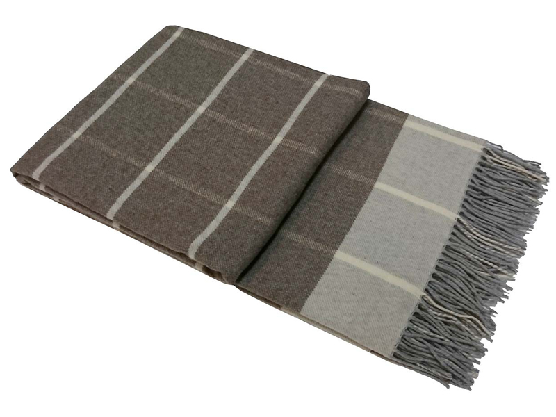 Плед Vladi Familia Harry 140x200cm White-Grey-Light Brown 9004527