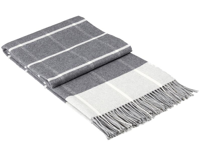 Плед Vladi Familia Harry 140x200cm White-Grey-Dark Grey 9004528