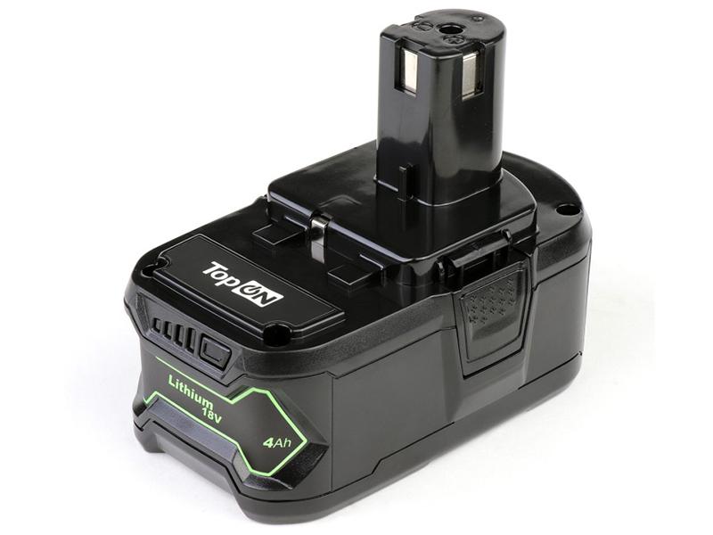 Аккумулятор TopON TOP-PTGD-RY-18-4.0-Li для Ryobi 18V 4.0Ah (Li-Ion) PN: RB18L40 102770