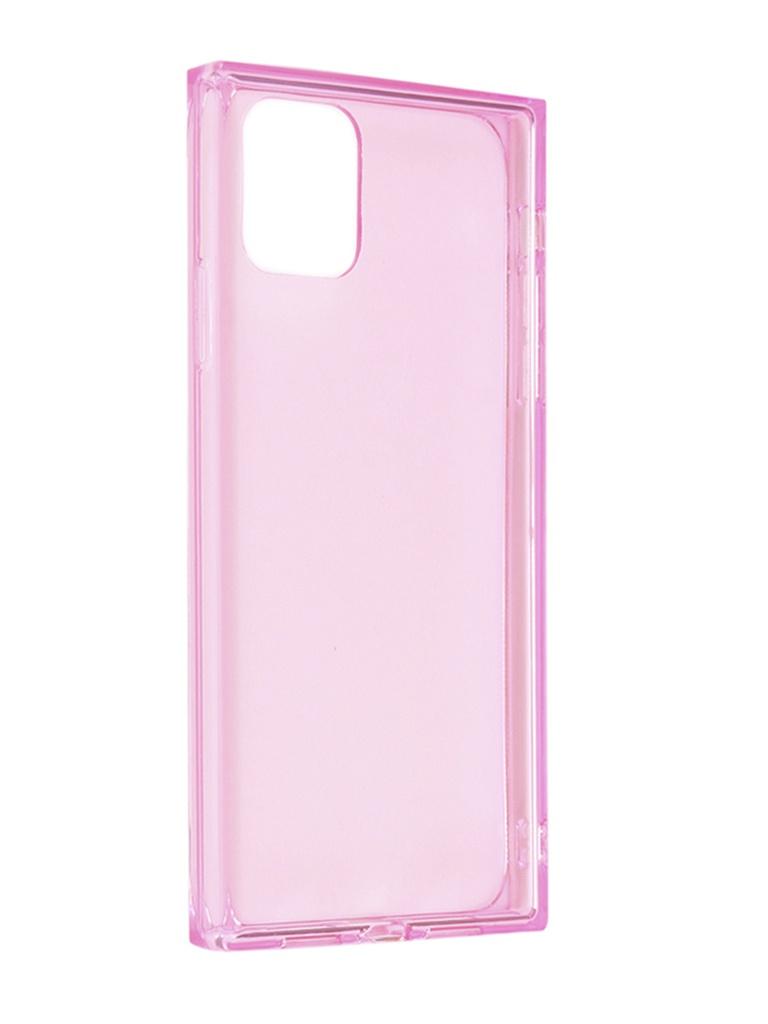 Чехол Brosco для APPLE iPhone 11 Ice Cube Silicone Pink IP11-ICE-TPU-PINK