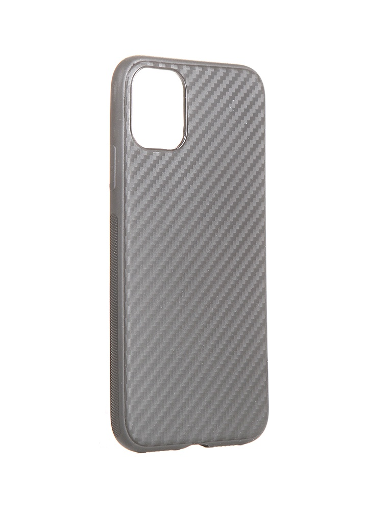 Чехол Brosco для APPLE iPhone 11 Carbon Silicone Black IP11-CARBONE-BLACK