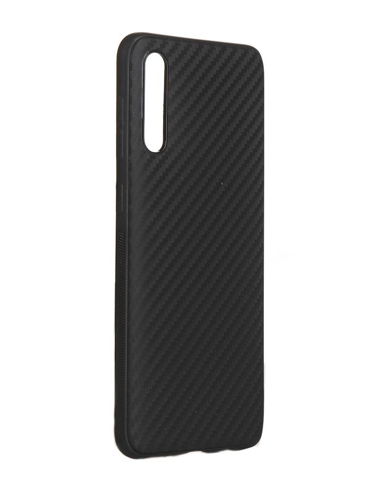 Чехол Brosco для Samsung Galaxy A50/A30S Carbon Silicone Black SS-A50-CARBONE-BLACK