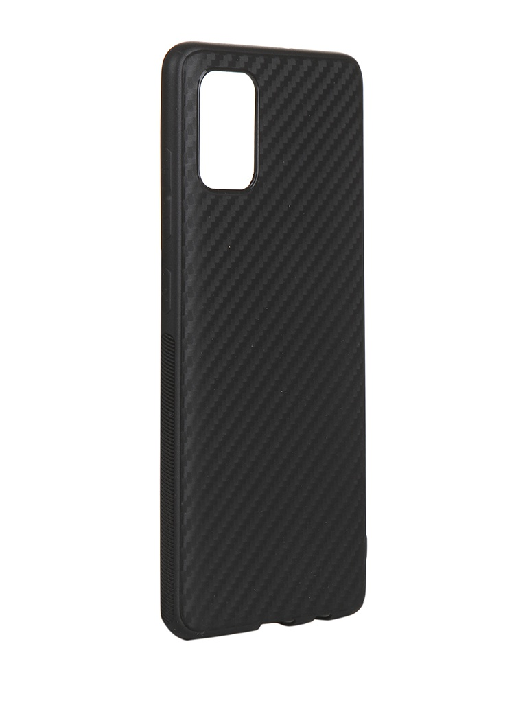 Чехол Brosco для Samsung Galaxy A51 Carbon Silicone Black SS-A51-CARBONE-BLACK