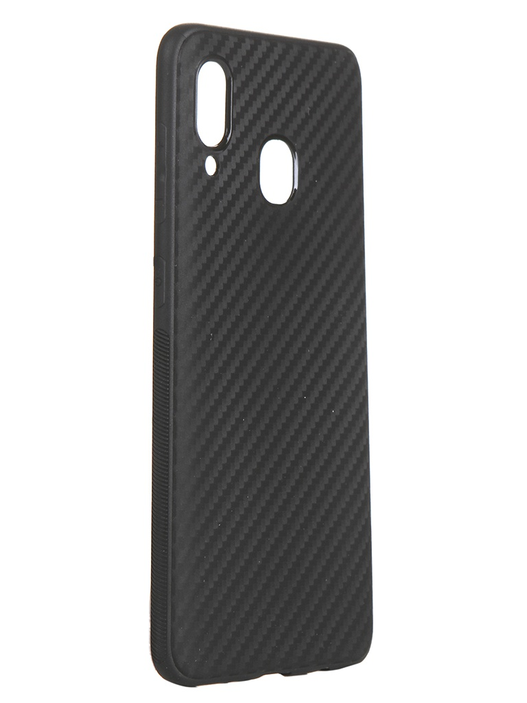 Чехол Brosco для Samsung Galaxy A20/A30 Carbon Silicone Black SS-A20/A30-CARBONE-BLACK