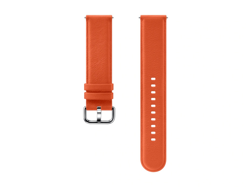 Aксессуар Ремешок Samsung Galaxy Watch Leather Band Orange ET-SLR82MOEGRU для Active / 2