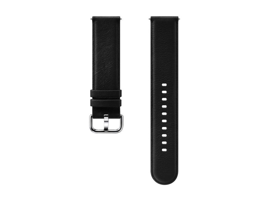 Aксессуар Ремешок Samsung Galaxy Watch Leather Band Black ET-SLR82MBEGRU для Active / 2