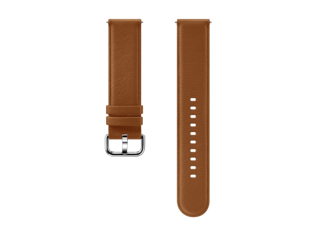 Aксессуар Ремешок Samsung Galaxy Watch Leather Band Brown ET-SLR82MAEGRU для Active / 2