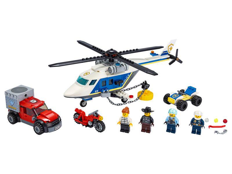 Конструктор Lego City Погоня на полицейском вертолёте 60243 фото