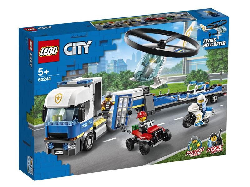 Конструктор Lego City Полицейский вертолётный транспорт 60244 конструктор city lego lego mp002xb00c9t