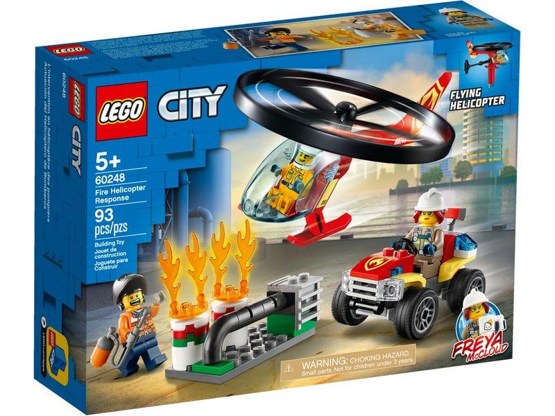 Конструктор Lego City Пожарный спасательный вертолёт 60248 lego city 60179 вертолёт скорой помощи lego
